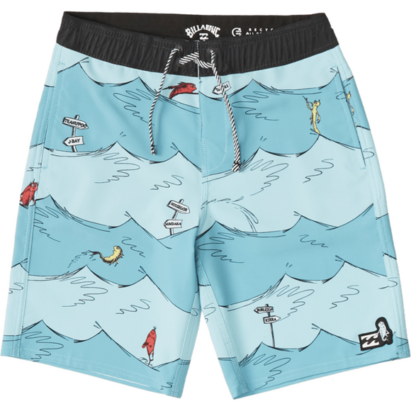 BOYS ONE FISH TWO FISH LAYBACK BOARDSHORT | Billabong | AQUA |