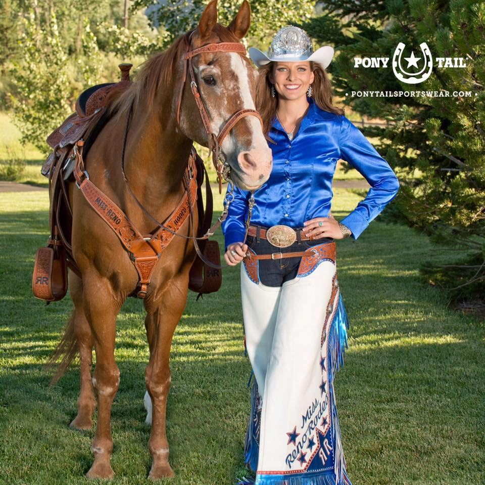 Jennifer Fisk, 2018 Miss Reno Rodeo, joins the Pony Tail Sportswear Brand Ambassador Team!
