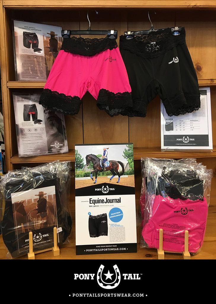 The Gift Horse Saddlery is carrying Pony Tail Sportswear!