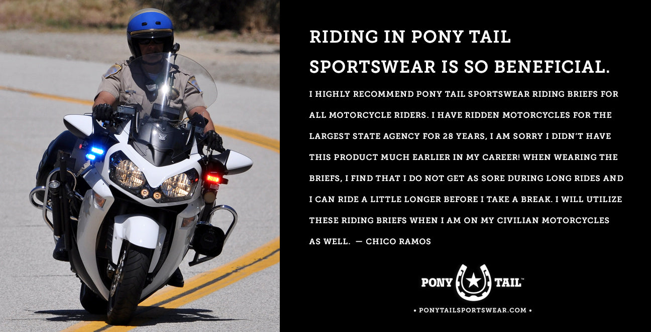 law enforcement wears pony tail sportswear