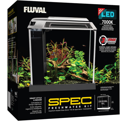 Fluval Spec Aquarium Kit, 2.6 US Gal (10 L)