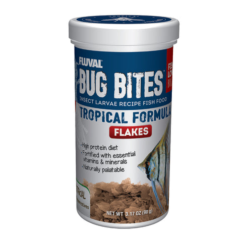 Fluval Bug Bites Tropical Flakes Formula