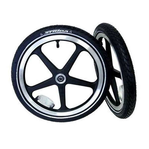 "16"" Plastic Wheel Set - Black (Pair)"