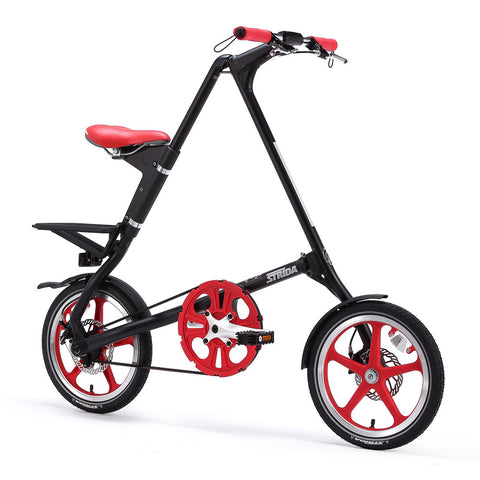 Strida LT Matt Black (Red Accents)