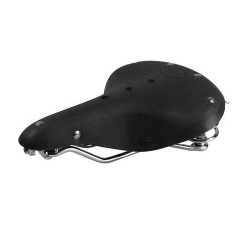 Leather Bike Seat (Black)
