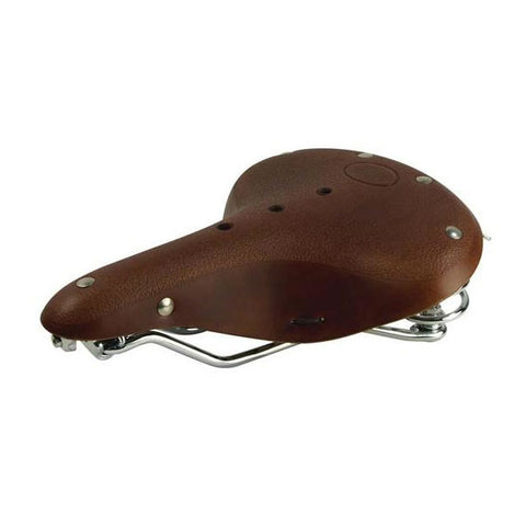 Leather Bike Seat (Brown)