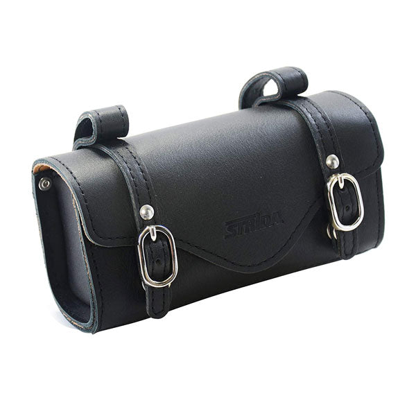 Leather Saddle Bag (Black)