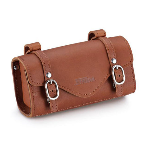 ST-SB-009 Leather Saddle Bag (Tan Leather)