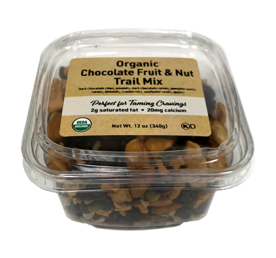 Organic Chocolate, Fruit, & Nut Trail Mix, 12 oz Container - 12 Pack