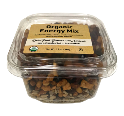 Organic Energy Trail Mix, 12 oz  Container - 12 Pack
