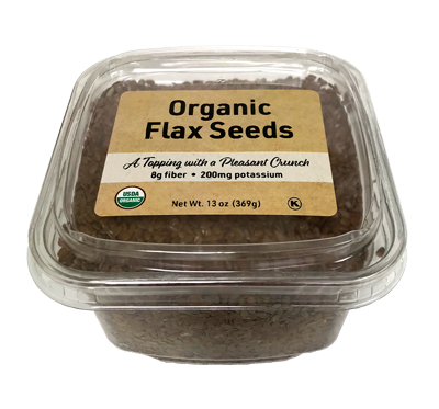 Organic Flax Seed, 13 oz Container - 12 Pack
