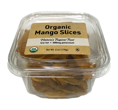 Organic Mango Slices, 6 oz Container - 12 Pack