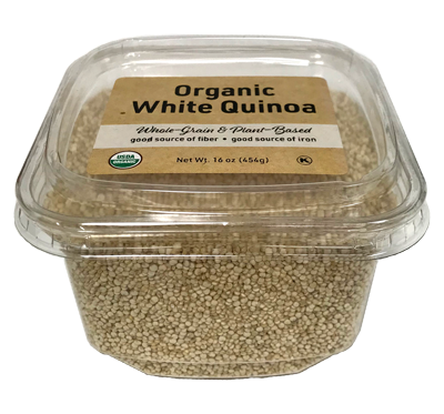 Organic Quinoa - White, 16 oz Container - 12 Pack