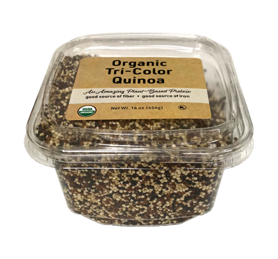 Organic Quinoa - Tri-Color, 16 oz Container - 12 Pack