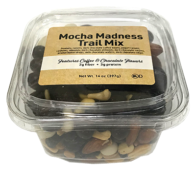 Mocha Madness Trail Mix, 14 oz Container - 12 Pack