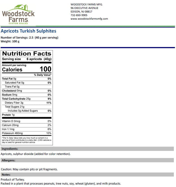 Dried Apricots Nutritional Facts | Woodstock Farms