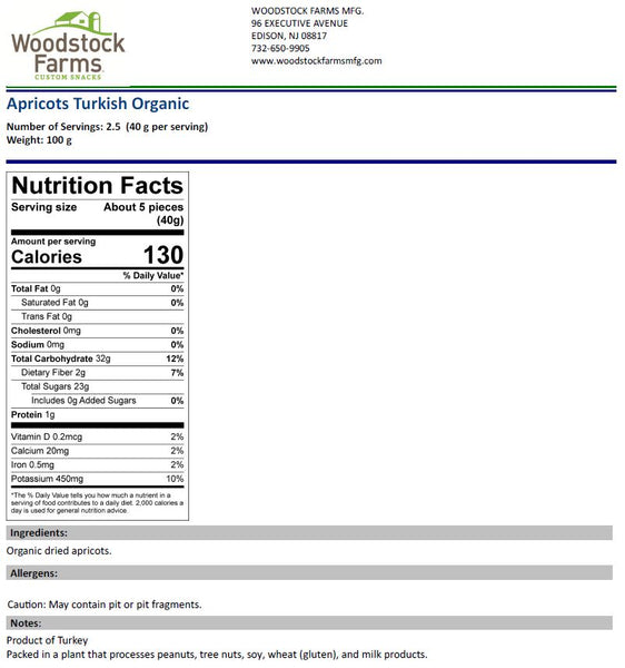 Organic Apricots Nutritional Facts | Woodstock Farms