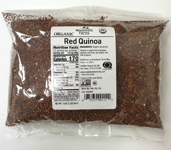 Organic Quinoa - Red, 16 oz Bag - 24 Pack