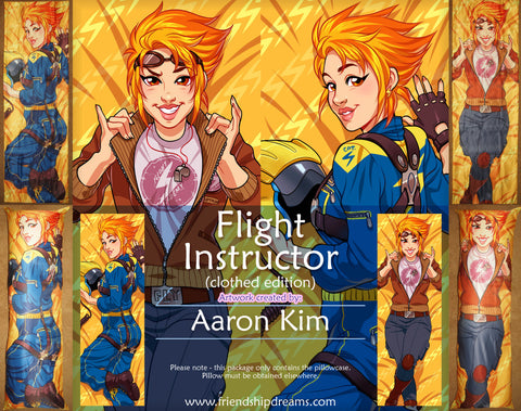 Flight Instructor Dakimakura by Aaron Kim