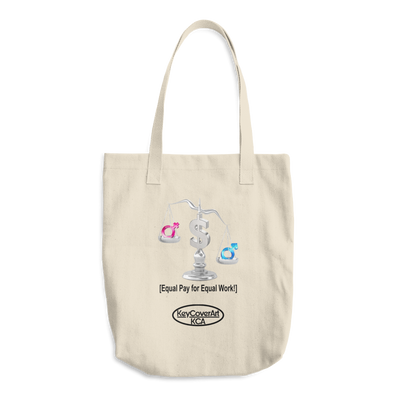 Equal Pay for Equal Work Cotton Tote Bag