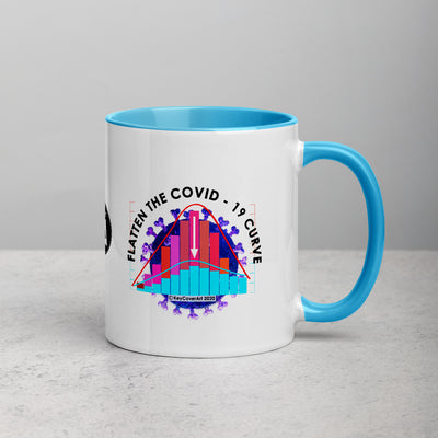 Flatten the Curve - Mug with Color Inside