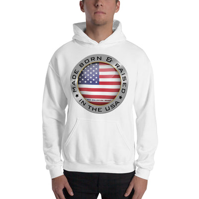Made Born and Raised in the USA - Hooded Sweatshirt
