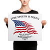 The Speech is Free - Canvas 16×20