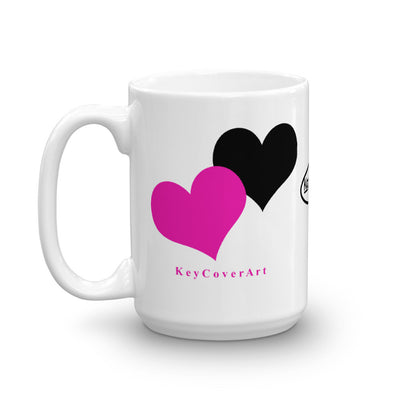 Pink Heart - Mug made in the USA