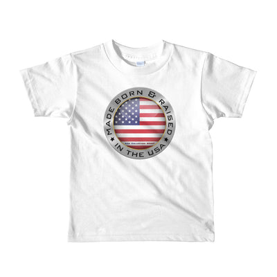 Made Born and Raised in the USA - Short sleeve kids t-shirt