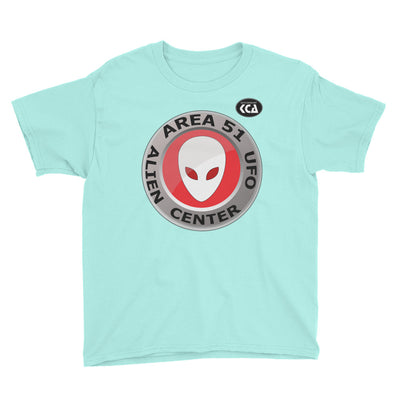 AREA 51 - Alien & UFO Center - Youth Short Sleeve T-Shirt
