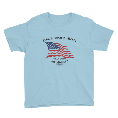 The Speech is Free Youth Short Sleeve T-Shirt