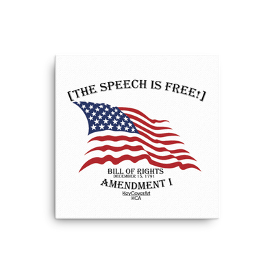 The Speech is Free Canvas
