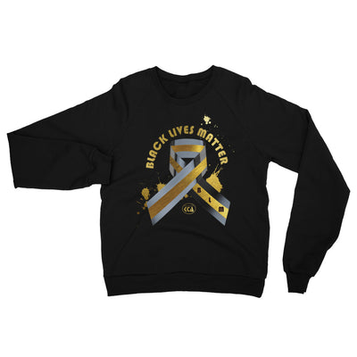 Black Lives Matter - Unisex California Fleece Raglan Sweatshirt