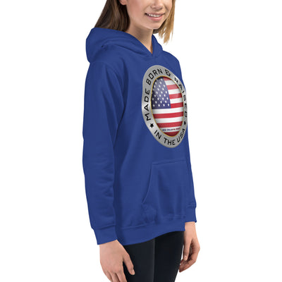 Made Born and Raised in the USA - Kids Hoodie
