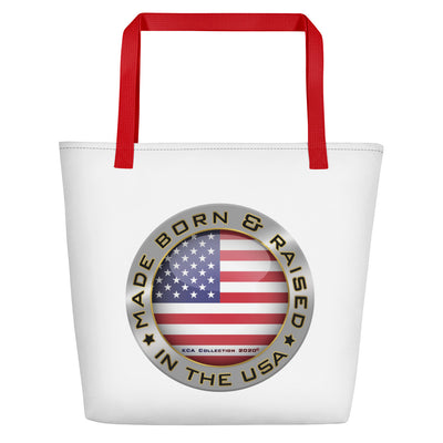 Made Born and Raised in the USA - Beach Bag