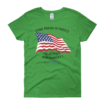The Press is Free - Women's short sleeve t-shirt