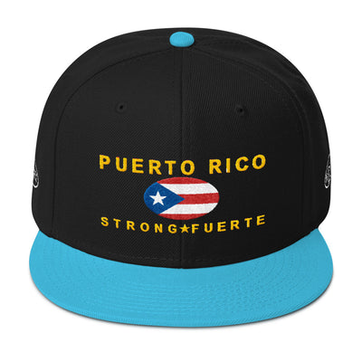 Puerto Rico Strong/Fuerte - Snapback Hat - All Proceeds will be Donated!