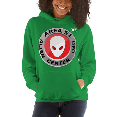 AREA 51 - Alien & UFO Center - Hooded Sweatshirt