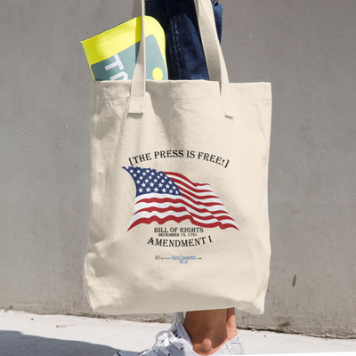 The Press is Free - Cotton Tote Bag