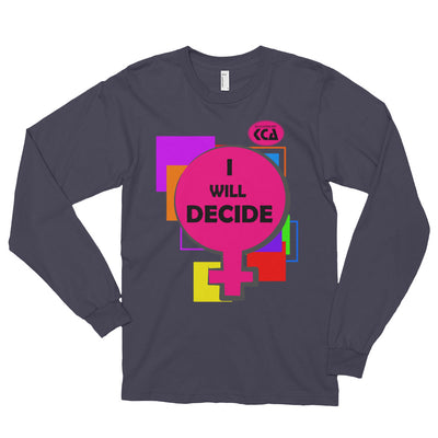 I Will Decide - Long sleeve t-shirt (unisex)