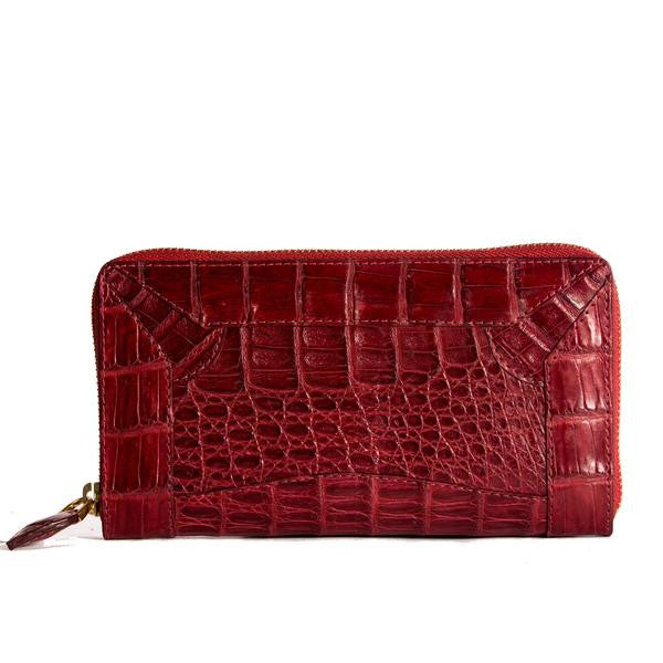 Zip Around All Croc Burgundy - Kalamarie - JustSoStyle