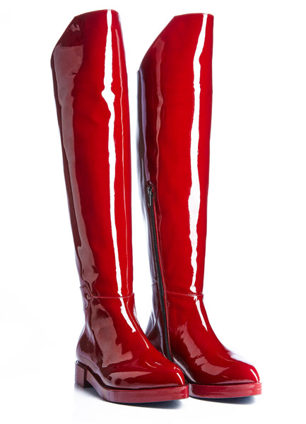 women's boots, from of genuine patent leather.  www.justsostyle.net