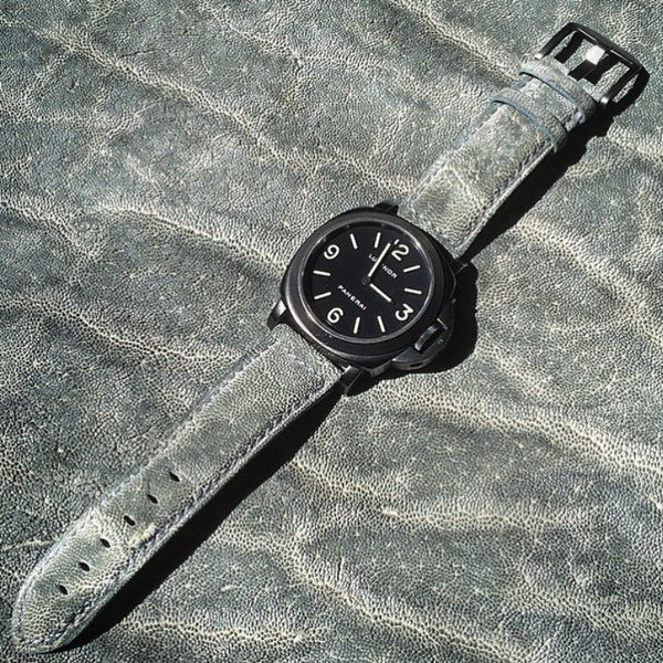 watch straps for Panerai from Elephant leather.  www.justsostyle.net