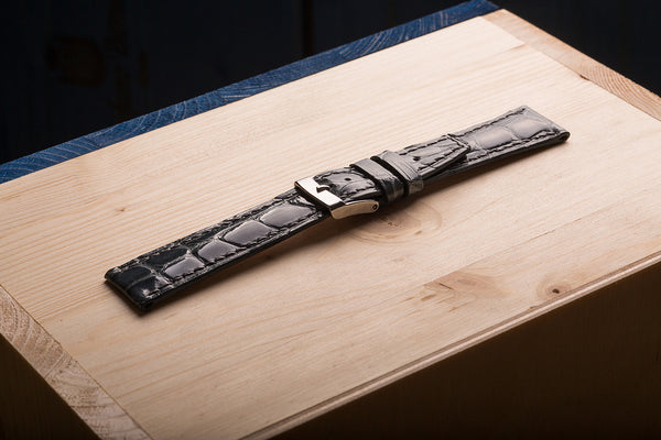 Comfortable, unique watch strap, for a high level watch, from crocodile skin. www.justsostyle.com
