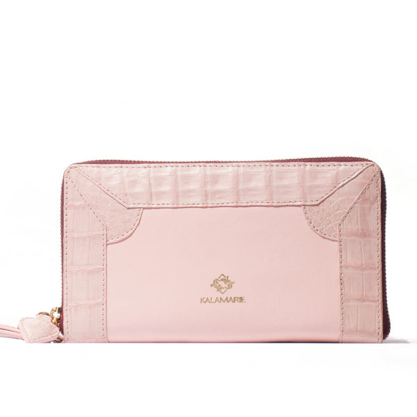 Rose Zip-Around Wallet Rosé & Touch of Berries - Kalamarie - JustSoStyle