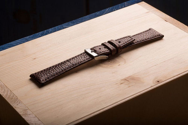 Comfortable, unique watch strap, for a high level watch, from fjord calf leather. www.justsostyle.com