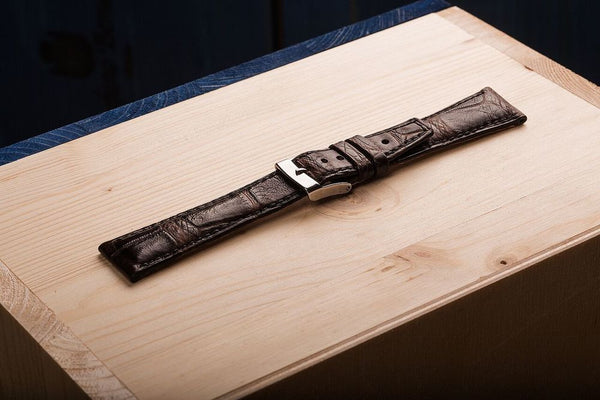 Comfortable, unique watch strap, for a high level watch, from alligator skin. www.justsostyle.com