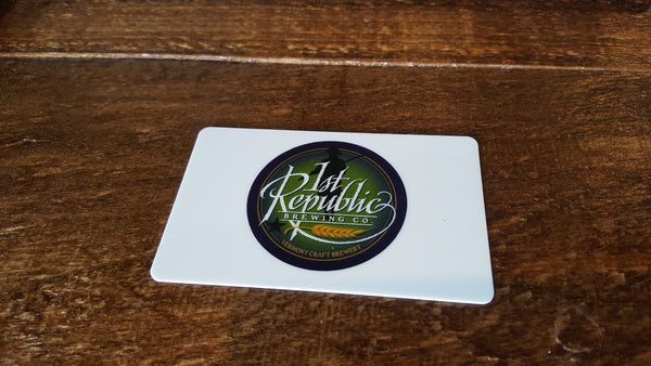 Gift Cards for 1st Republic Homebrew