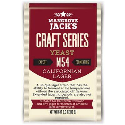 Mangrove Jack's California Lager Dried Yeast M54 - Homebrew Supplies in Vermont