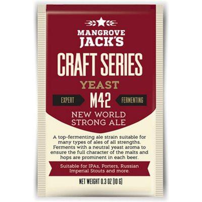 Mangrove Jack's New World Strong Ale Dried Yeast M42 - Homebrew Supplies in Vermont